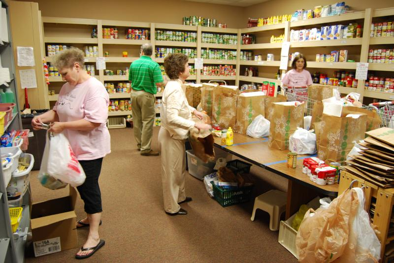 Arranging the Food Pantry